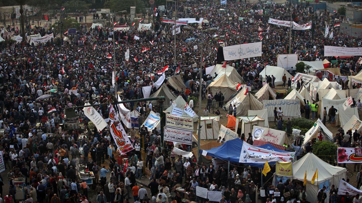 La plaza Tahrir, en El Cairo, se vuelve a convertir en epicentro de las protestas en Egipto