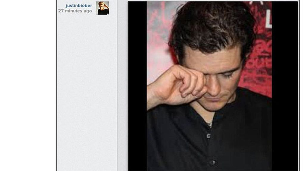 Justin Bieber se burla de Orlando Bloom en Instagram