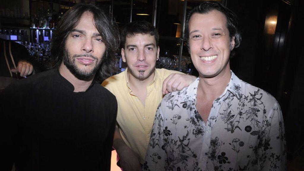 Joaquin Cortés, Nicolas Deglantoni y Carlos Calero
