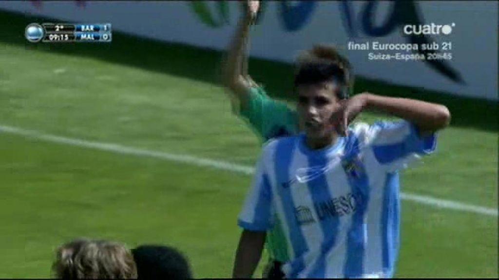 El penalti que dio vida al Málaga