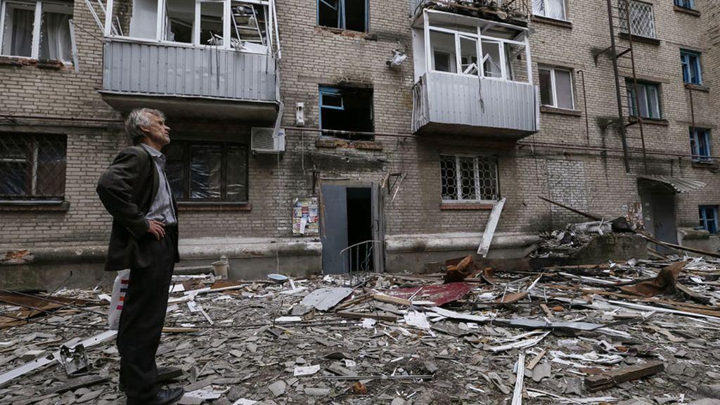 Bombardeos en Slaviansk