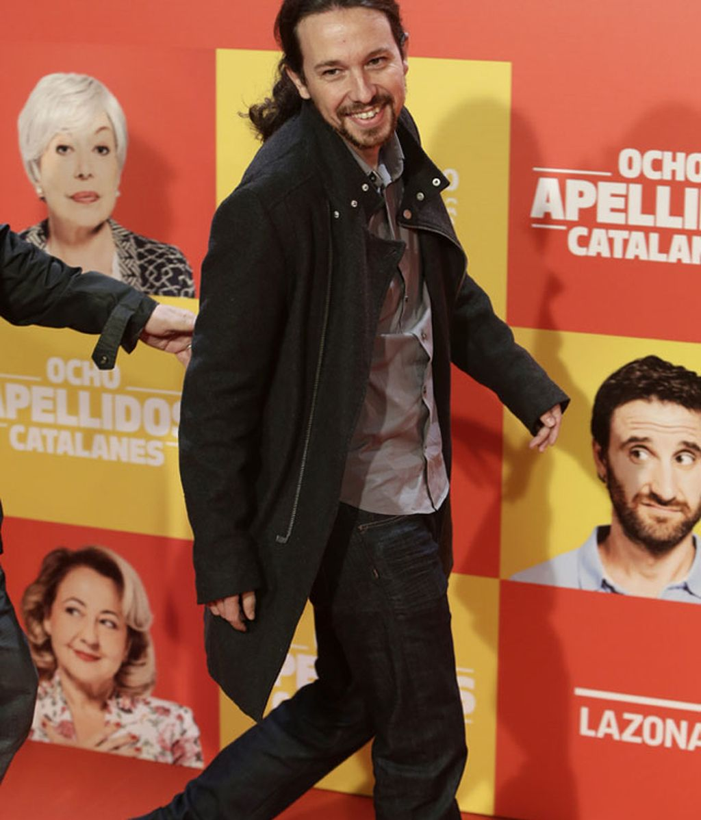 Pablo Iglesias (Podemos), su primera vez en un photocall