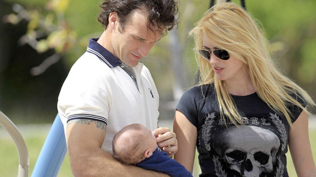 Carolina Cerezuela estuvo todo el tiempo pendiente de su bebé