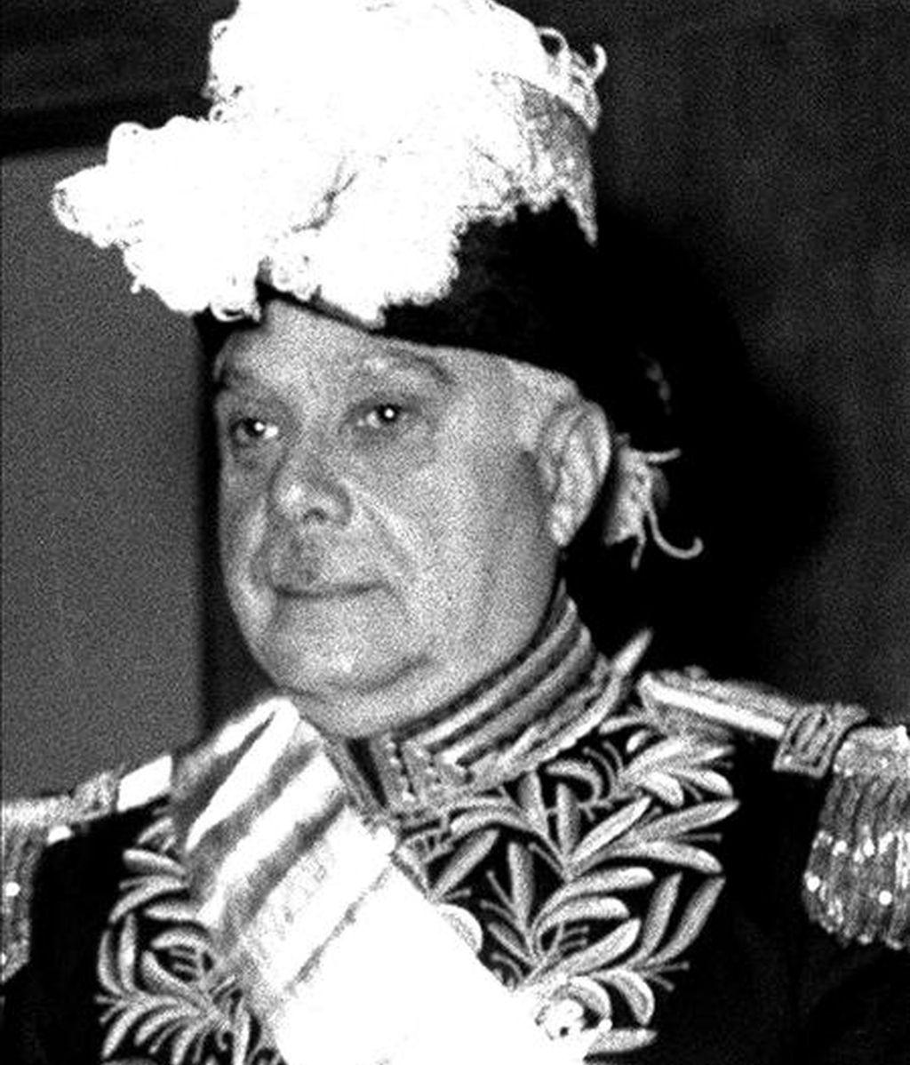 Fotografía de archivo del 3 de junio de 1954 del presidente de la República Dominicana, Rafael Leónidas Trujillo a su llegada a Madrid.  EFE/Archivo