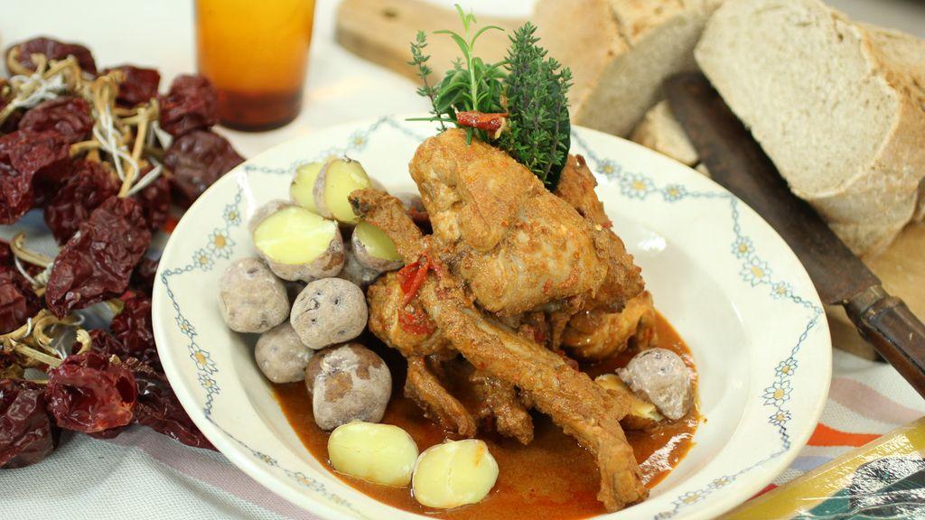 Conejo con salmorejo canario de 'Robin Food'