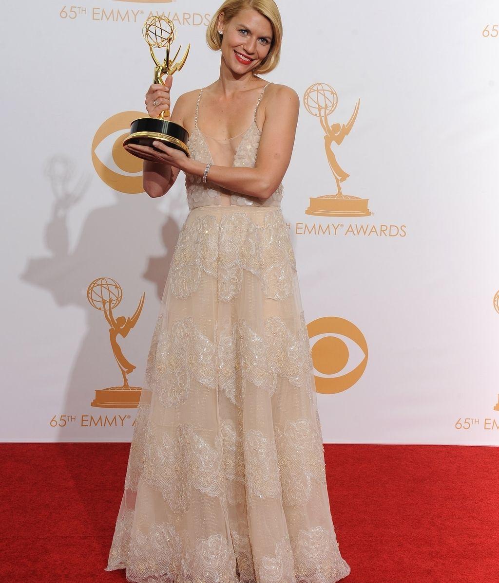 Claire Danes recibe su segundo premio Emmy