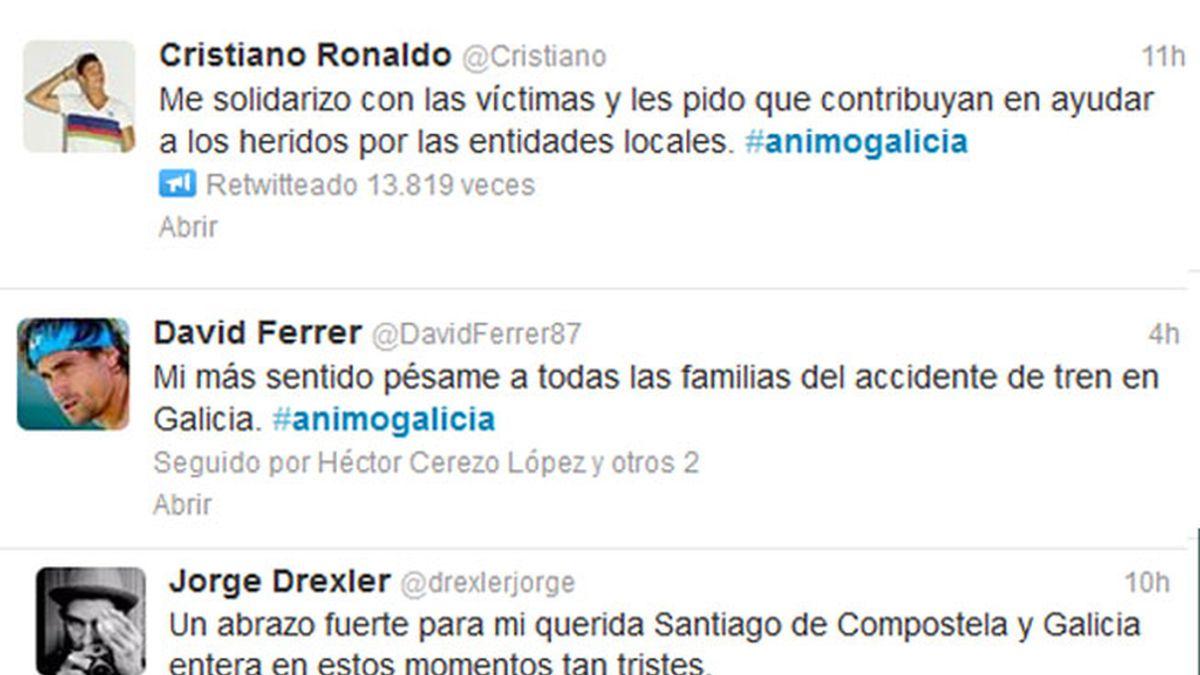 Condolencias en Twitter por el accidente de Santiago