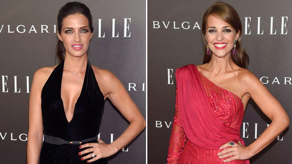 La actriz y la periodista fueron protagonistas en los premios ELLE Style 2014