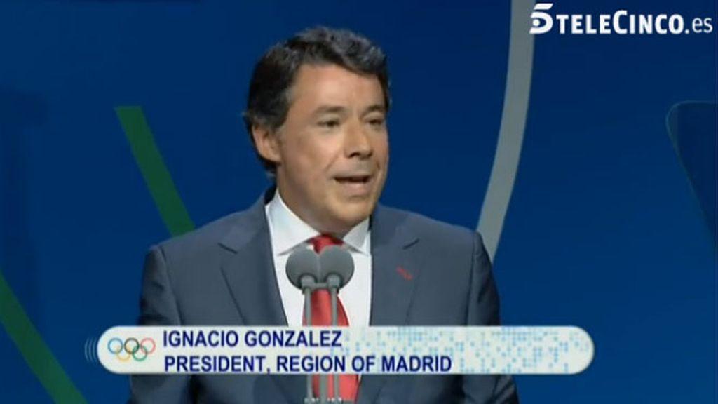 Ignacio González, en Buenos Aires para defender la candidatura Madrid 2020