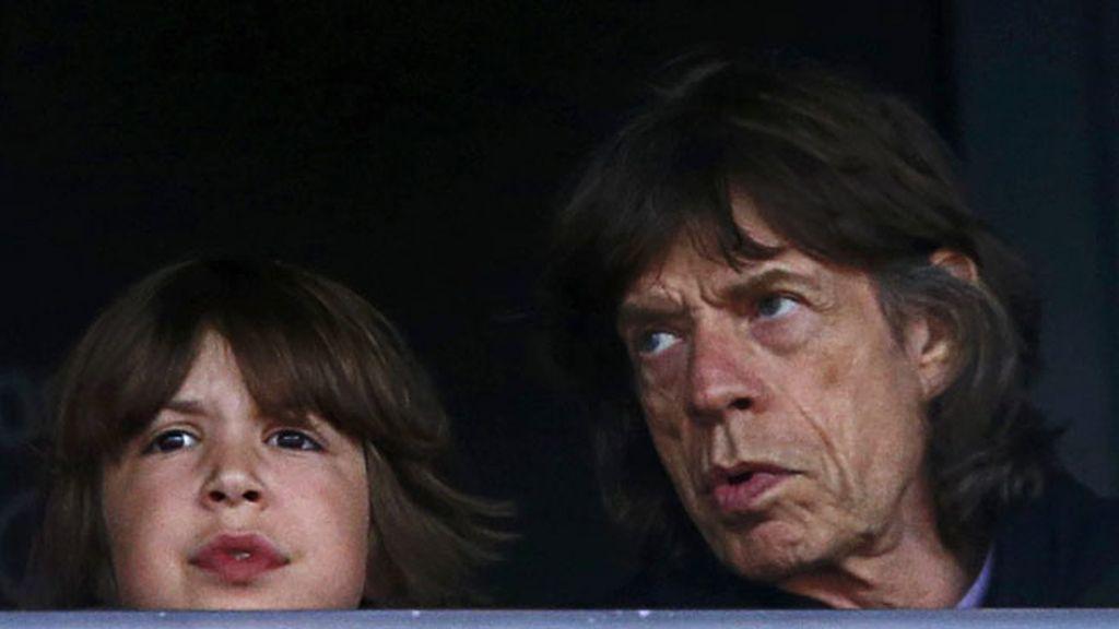 Mick Jagger y su hijo Lucas disfrutaron juntos del atletismo
