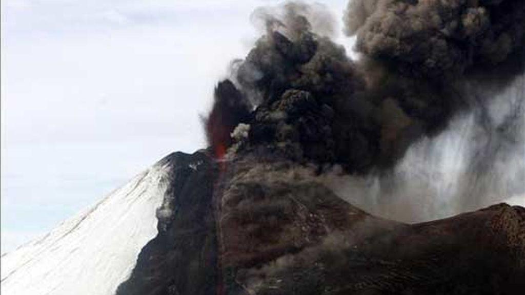 Erupción en Chile