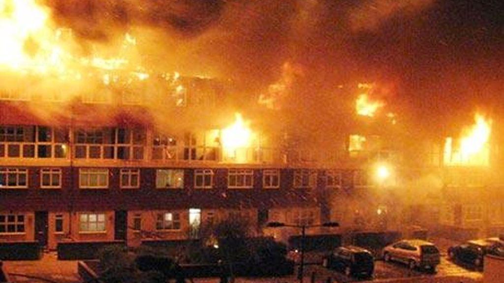Espectacular incendio en Londres