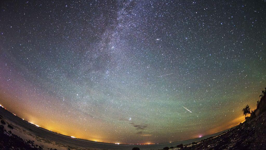 Estrellas fugaces en Viazynka, Bielorrusia
