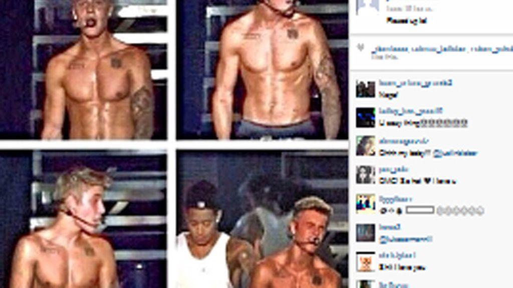 Justin Bieber lo enseña todo sobre el escenario