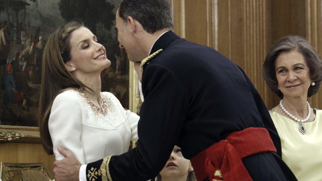 Tras la imposición del fajín a Felipe VI