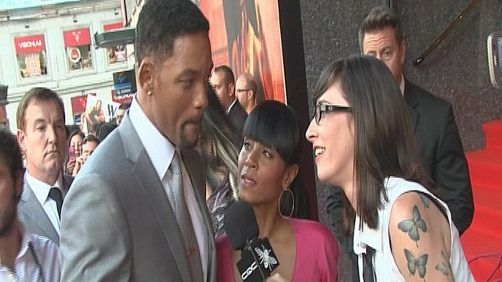 Will Smith con Irene Moreno