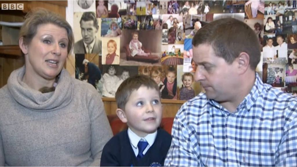 Danny Kitchen y sus padres