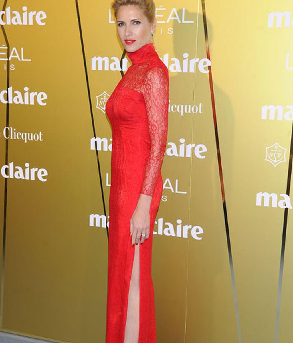 Judith Mascó, con un sensual vestido rojo