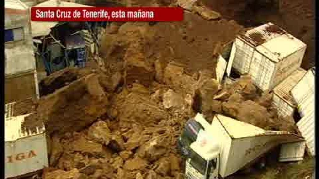Fuertes lluvias en Canarias
