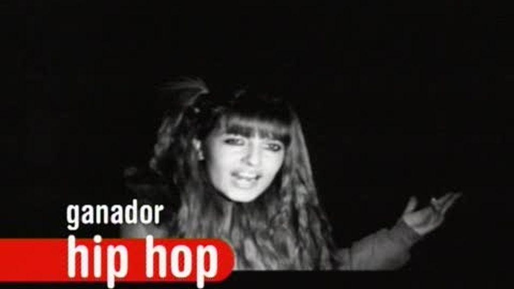 Anyta Meneiro ganadora de la categoría Hip Hop