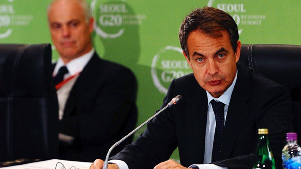 Zapatero en una reunión empresarial previa al G-20