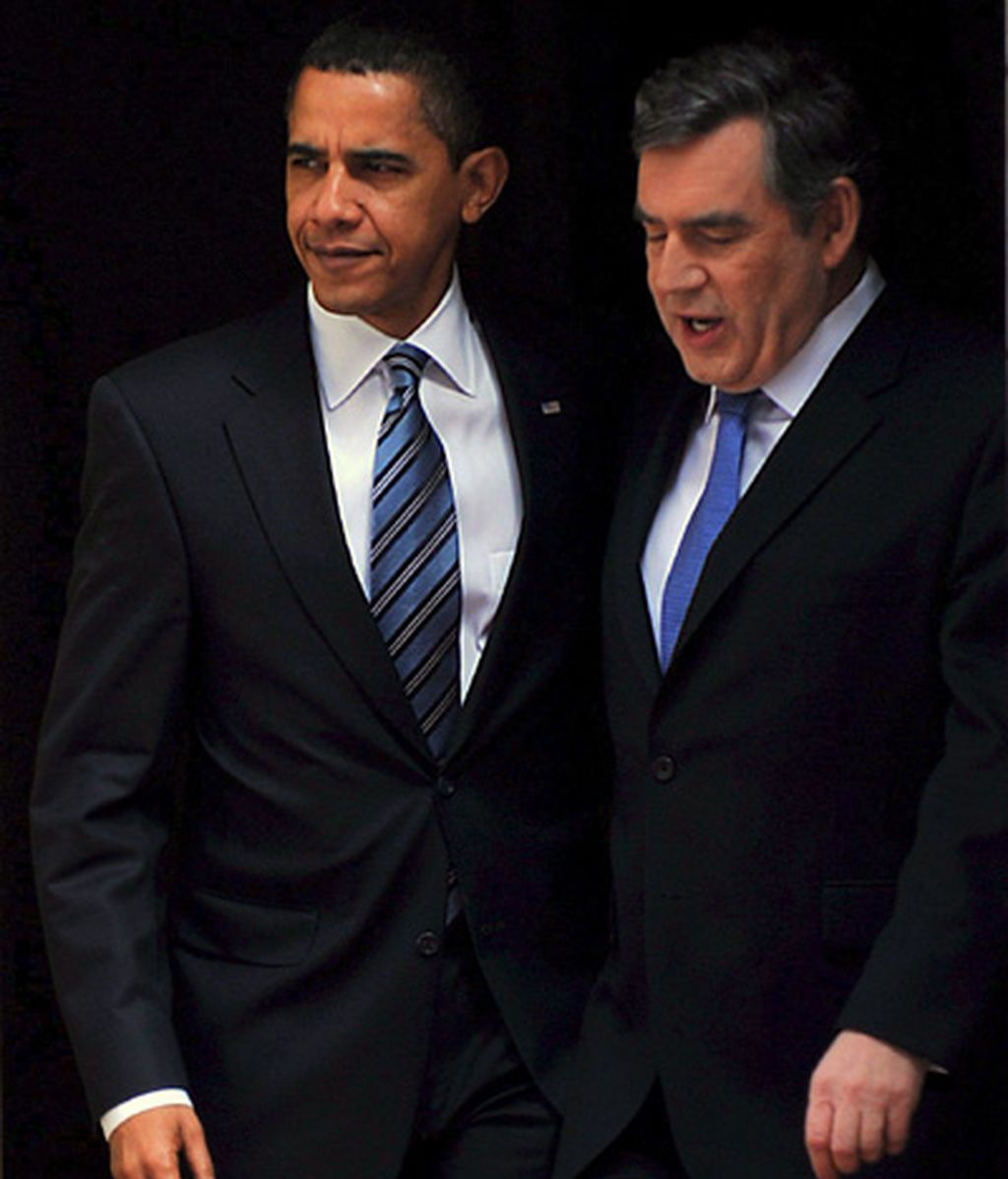 Obama con Gordon Brown