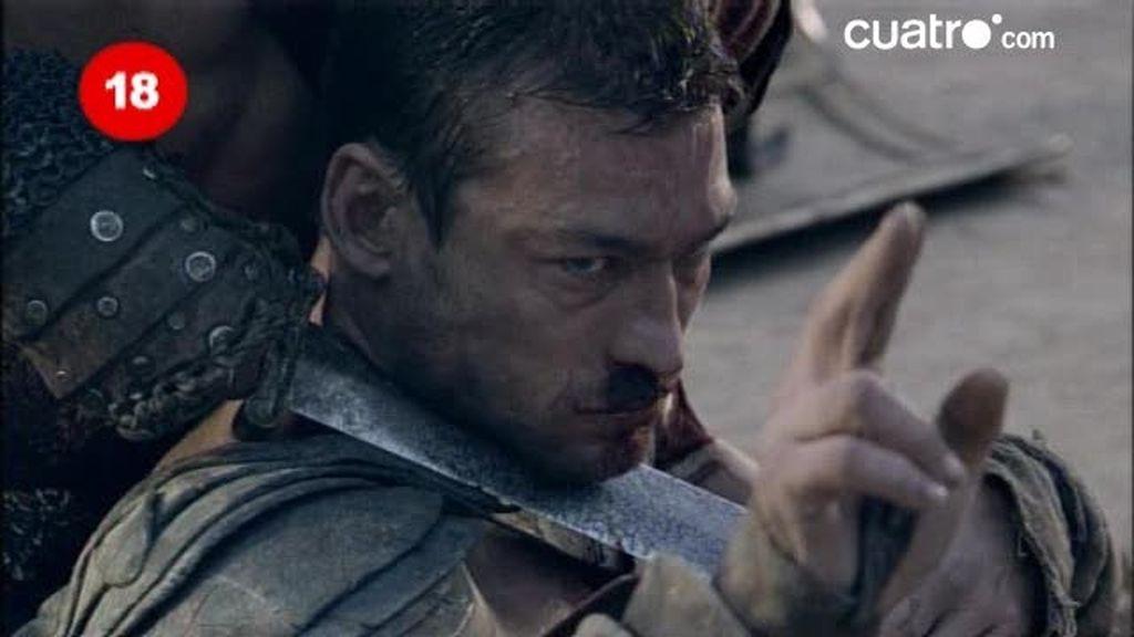 Espartaco pide clemencia a Batiatus