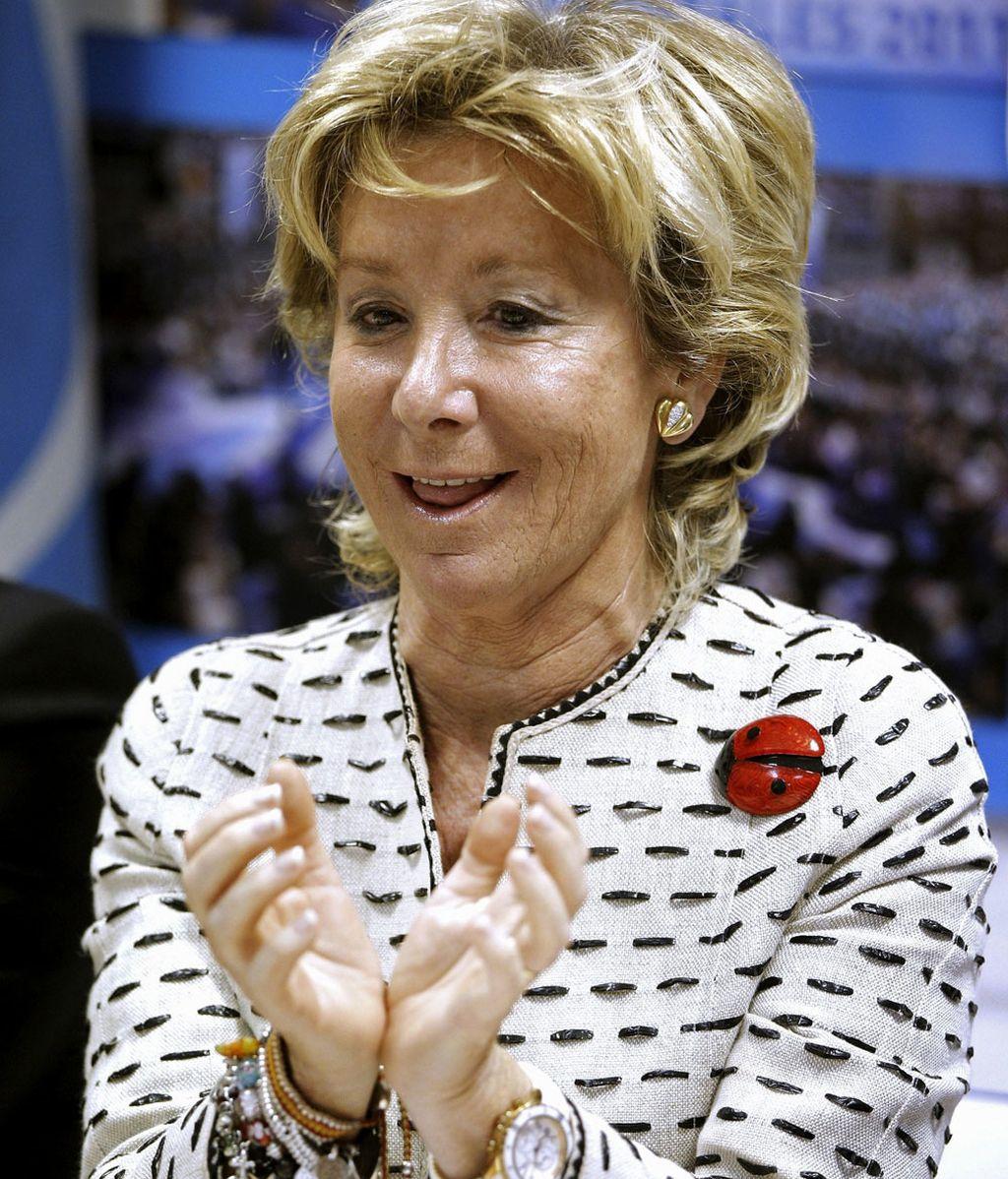 La presidenta de la Comunidad de Madrid, Esperanza Aguirre, durante la reunión del Comité de Dirección del PP de Madrid