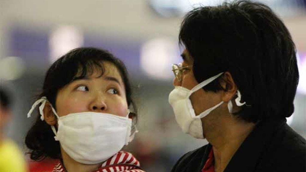 En China, con mascarillas