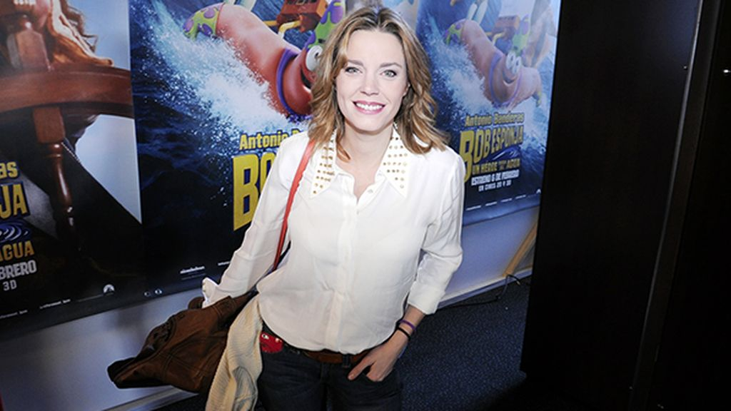Carolina Bang acompañó a su marido al estreno de la película de Bob Esponja