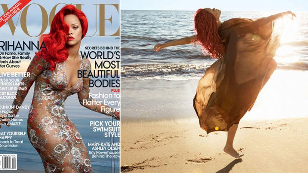 Rihanna para 'Voghe'