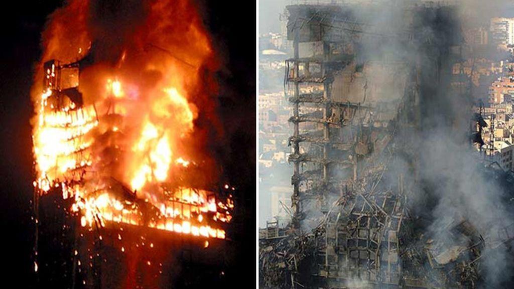 Incendio del Windsor, en febrero de 2005