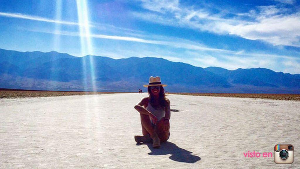 """""""En la luna"""", decía Lara sobre el desierto de Arizona"""