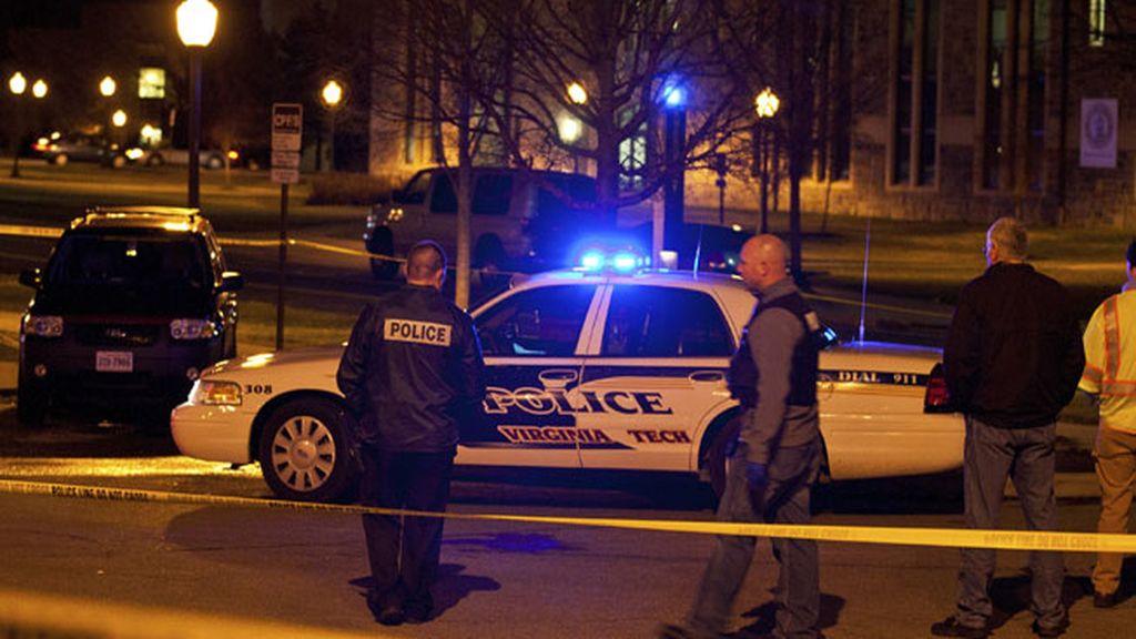 Lugar del tiroteo en la Universidad de Virginia Tech