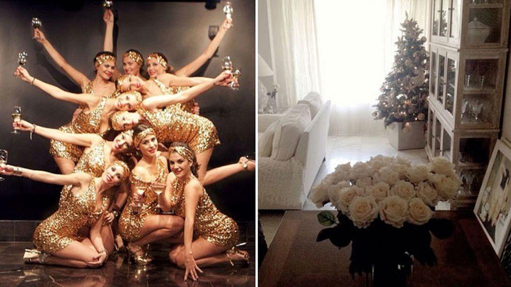 María José Suarez celebra las fiestas con las 'burbujitas' y después decora la casa