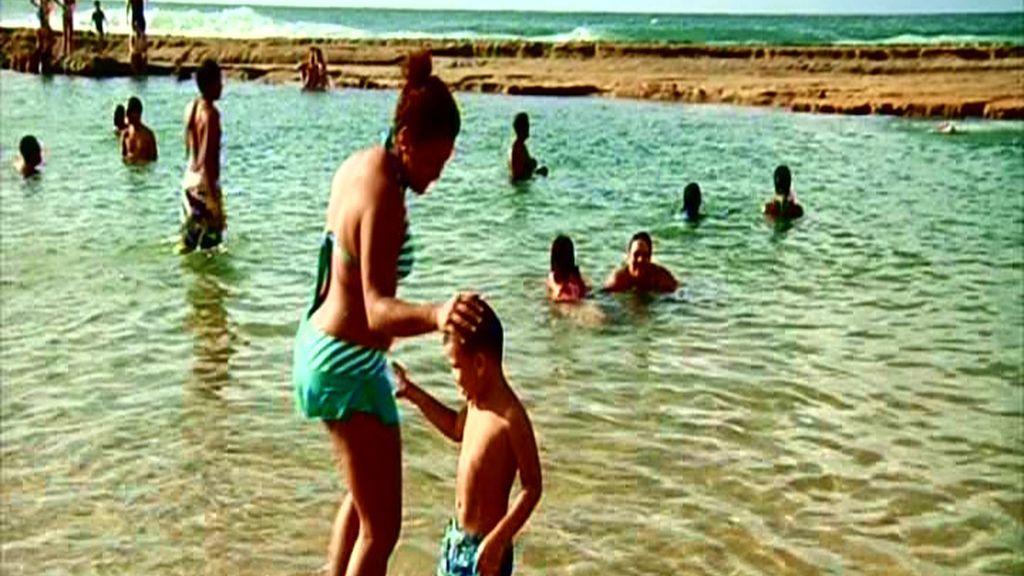 La playa Piñones es ideal para ir con niños