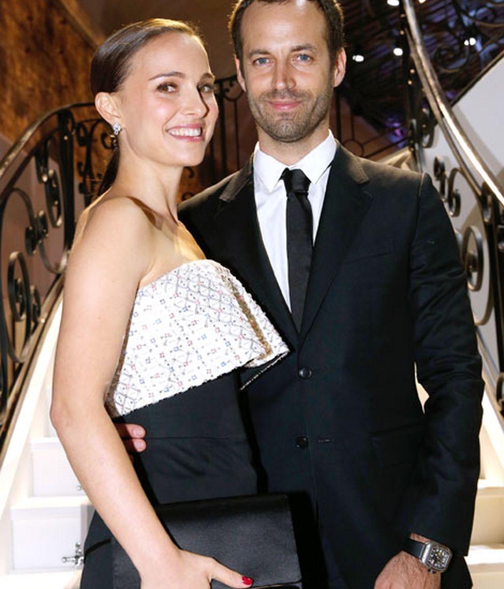 Natalie Portman acudió acompañada por su marido, Benjamin Millepied