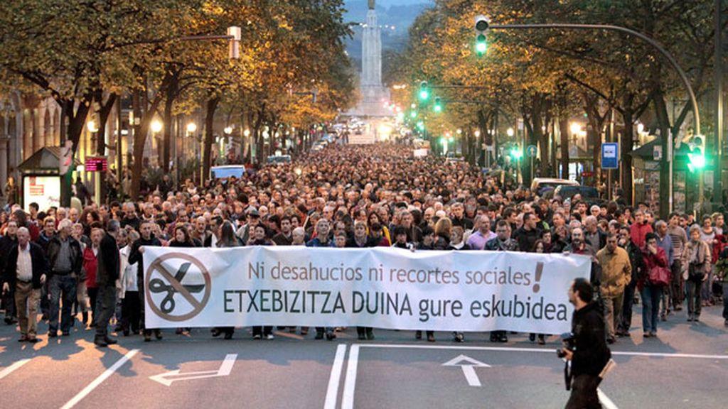 Manifestación en Bilbao contra los desahucios