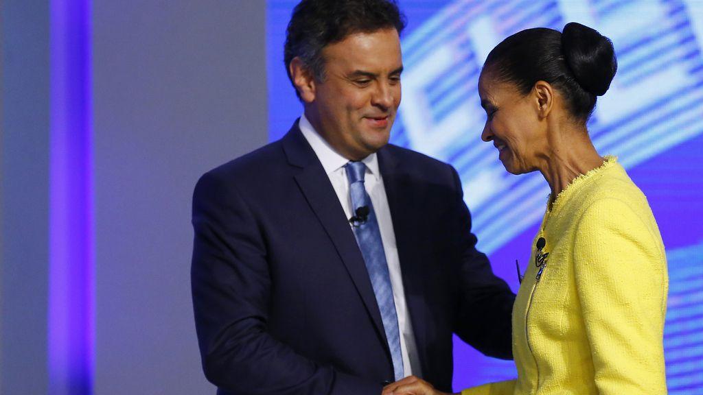 Aecio Neves y Marina Silva
