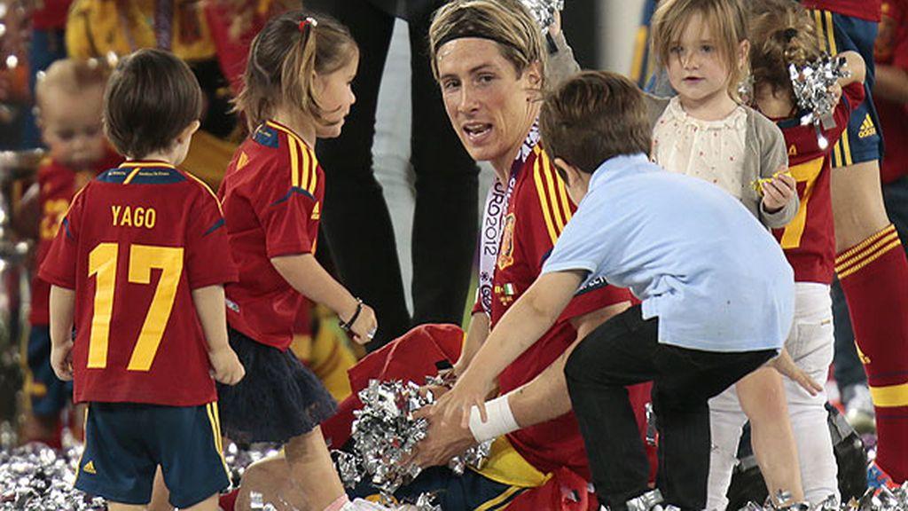 La celebración infantil de la Eurocopa