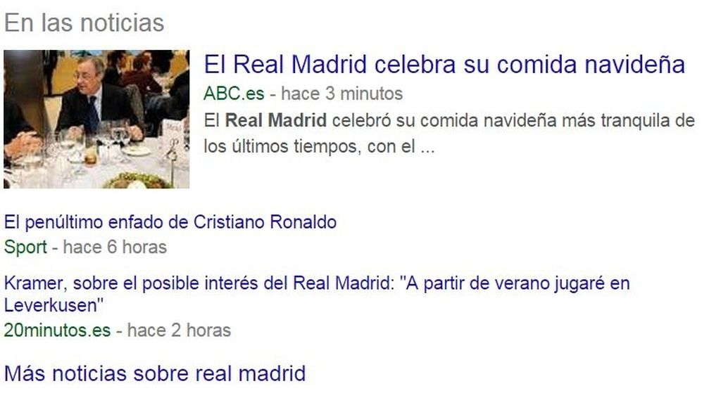Google News, Real Madrid