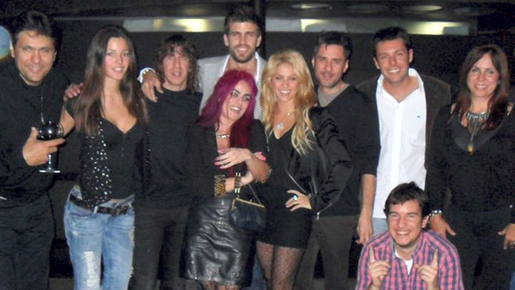 Carles Puyol y Malena Costa