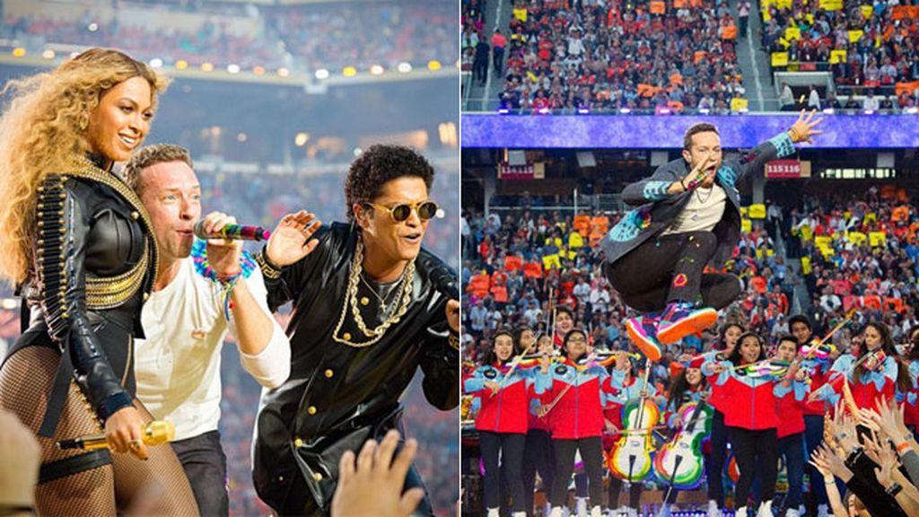 Momentazo, actuación de Coldplay junto a Beyoncé y Bruno Mars