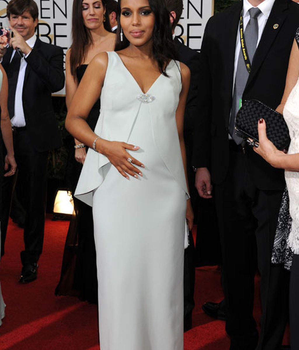 Kerry Washington, que estaba nominada, lució un Balenciaga
