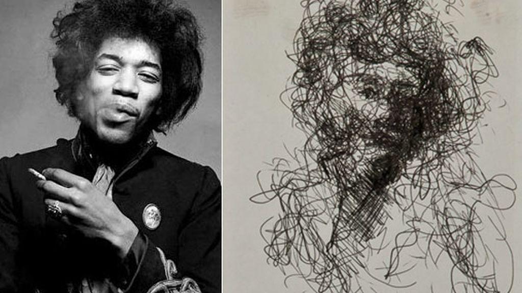 Arte a bolígrafo de Jimi Hendrix