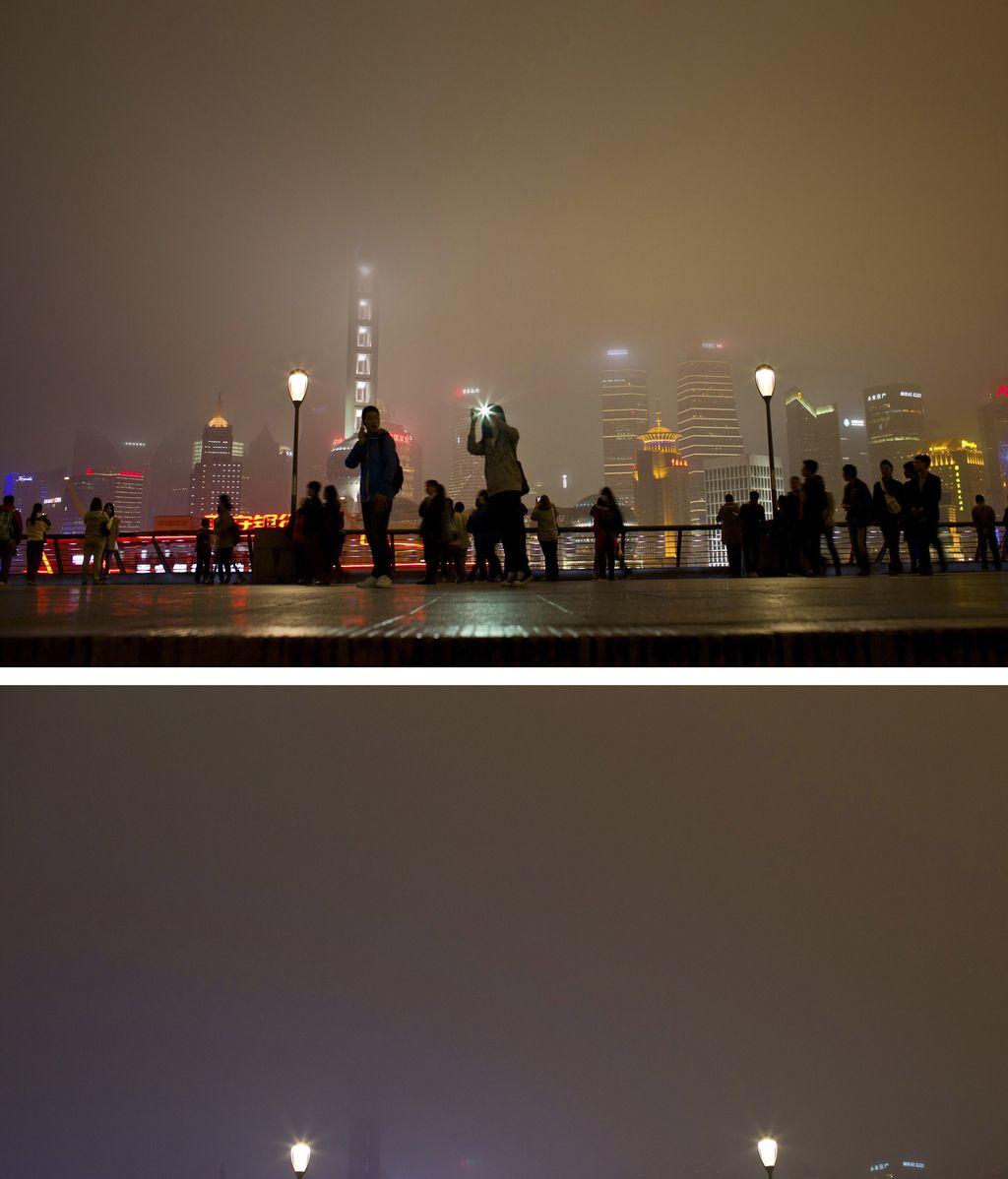Sobre el río Huangpu, Shanghai