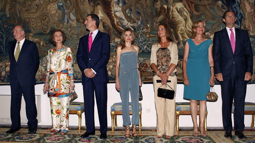 Cena de gala real en el palacio de la Almudaina