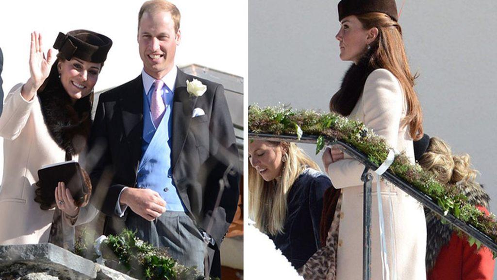 Kate Middleton luce embarazo en la boda de unos amigos