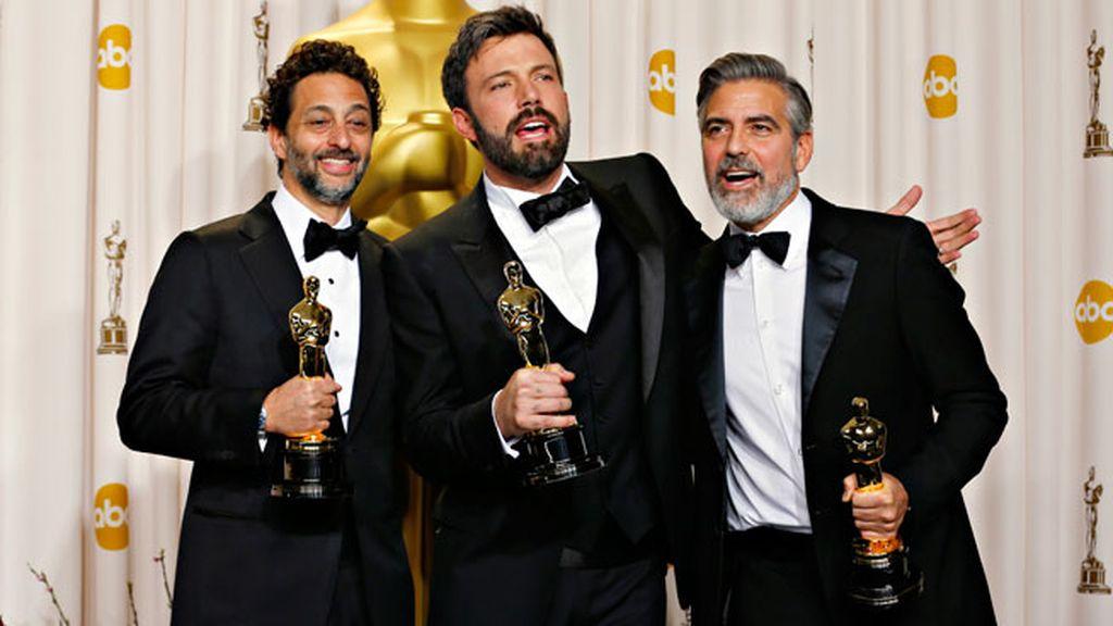 George Clooney, Grant Heslov y Ben Afleck, productores de 'Argo'