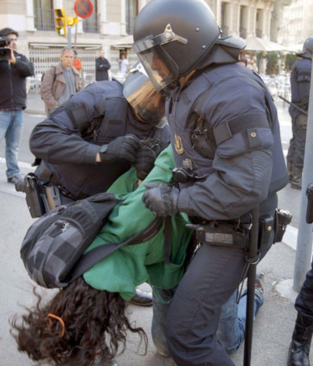 Protestas contra el Plan Bolonia en Barcelona